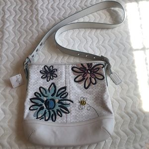 Coach Bee and Flower stitch Crossbody bag